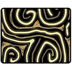 Brown elegant abstraction Fleece Blanket (Medium)
