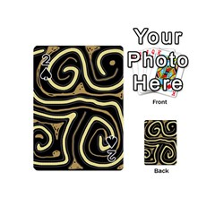 Brown elegant abstraction Playing Cards 54 (Mini)