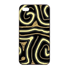 Brown elegant abstraction Apple iPhone 4/4s Seamless Case (Black)