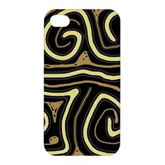 Brown elegant abstraction Apple iPhone 4/4S Hardshell Case