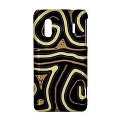 Brown elegant abstraction HTC Evo Design 4G/ Hero S Hardshell Case
