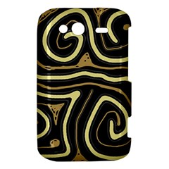 Brown elegant abstraction HTC Wildfire S A510e Hardshell Case