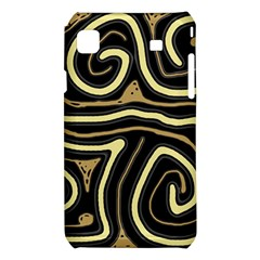 Brown elegant abstraction Samsung Galaxy S i9008 Hardshell Case