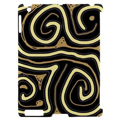 Brown elegant abstraction Apple iPad 2 Hardshell Case (Compatible with Smart Cover)