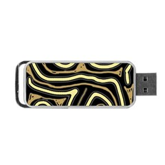 Brown elegant abstraction Portable USB Flash (One Side)