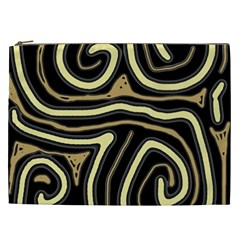 Brown elegant abstraction Cosmetic Bag (XXL)