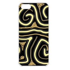 Brown elegant abstraction Apple iPhone 5 Seamless Case (White)