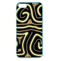 Brown elegant abstraction Apple Seamless iPhone 5 Case (Color)