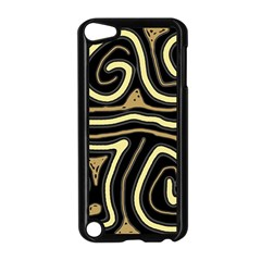 Brown elegant abstraction Apple iPod Touch 5 Case (Black)