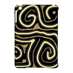 Brown elegant abstraction Apple iPad Mini Hardshell Case (Compatible with Smart Cover)