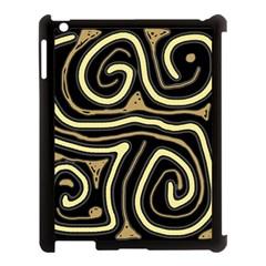 Brown elegant abstraction Apple iPad 3/4 Case (Black)