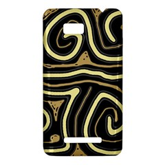 Brown elegant abstraction HTC One SU T528W Hardshell Case