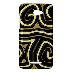 Brown elegant abstraction HTC Butterfly X920E Hardshell Case