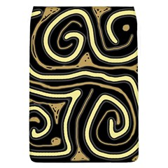Brown elegant abstraction Flap Covers (L)