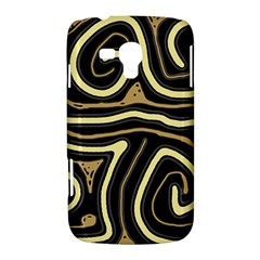 Brown elegant abstraction Samsung Galaxy Duos I8262 Hardshell Case