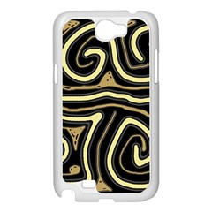 Brown elegant abstraction Samsung Galaxy Note 2 Case (White)