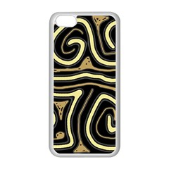 Brown elegant abstraction Apple iPhone 5C Seamless Case (White)