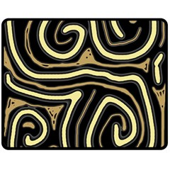 Brown elegant abstraction Double Sided Fleece Blanket (Medium)