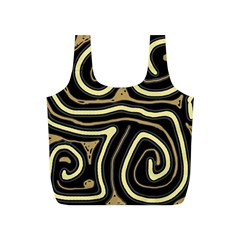 Brown elegant abstraction Full Print Recycle Bags (S)