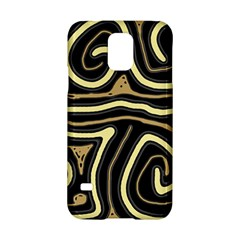 Brown elegant abstraction Samsung Galaxy S5 Hardshell Case