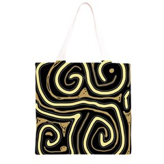 Brown elegant abstraction Grocery Light Tote Bag