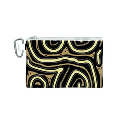 Brown elegant abstraction Canvas Cosmetic Bag (S)