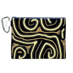 Brown elegant abstraction Canvas Cosmetic Bag (XL)