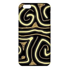 Brown Elegant Abstraction Iphone 6 Plus/6s Plus Tpu Case