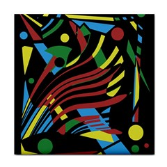 Colorful decorative abstrat design Tile Coasters