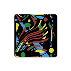 Colorful decorative abstrat design Square Magnet