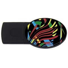 Colorful decorative abstrat design USB Flash Drive Oval (2 GB)