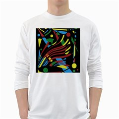 Colorful decorative abstrat design White Long Sleeve T-Shirts