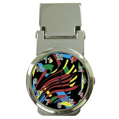 Colorful decorative abstrat design Money Clip Watches