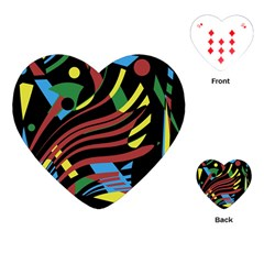 Colorful decorative abstrat design Playing Cards (Heart)