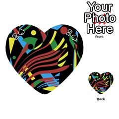 Colorful decorative abstrat design Playing Cards 54 (Heart)