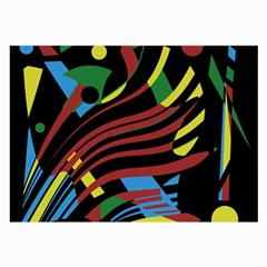 Colorful Decorative Abstrat Design Large Glasses Cloth (2 Side)