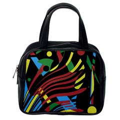Colorful decorative abstrat design Classic Handbags (One Side)