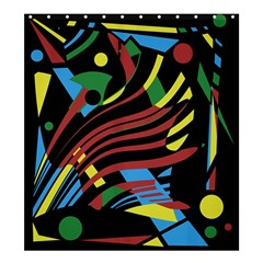 Colorful decorative abstrat design Shower Curtain 66  x 72  (Large)