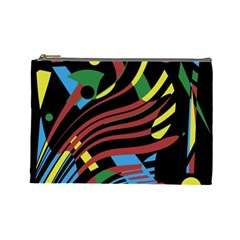 Colorful decorative abstrat design Cosmetic Bag (Large)