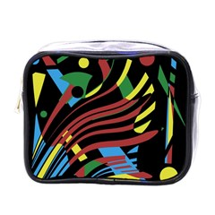Colorful decorative abstrat design Mini Toiletries Bags