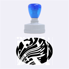 Colorful decorative abstrat design Rubber Oval Stamps