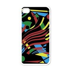 Colorful decorative abstrat design Apple iPhone 4 Case (White)