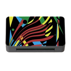 Colorful decorative abstrat design Memory Card Reader with CF