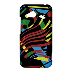 Colorful decorative abstrat design HTC Droid Incredible 4G LTE Hardshell Case
