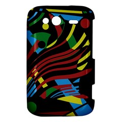 Colorful decorative abstrat design HTC Wildfire S A510e Hardshell Case