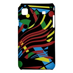 Colorful decorative abstrat design Samsung Galaxy S i9008 Hardshell Case
