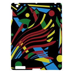 Colorful decorative abstrat design Apple iPad 3/4 Hardshell Case