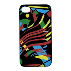 Colorful decorative abstrat design Apple iPhone 4/4S Hardshell Case with Stand