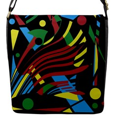 Colorful decorative abstrat design Flap Messenger Bag (S)