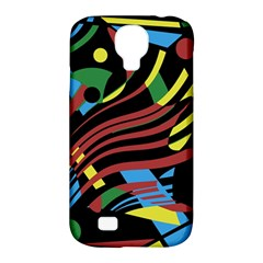 Colorful decorative abstrat design Samsung Galaxy S4 Classic Hardshell Case (PC+Silicone)